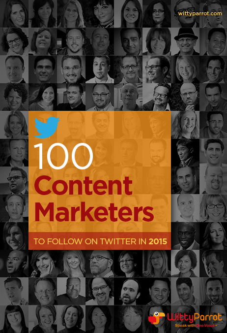 100 Content Marketers to Follow on Twitter in 2015